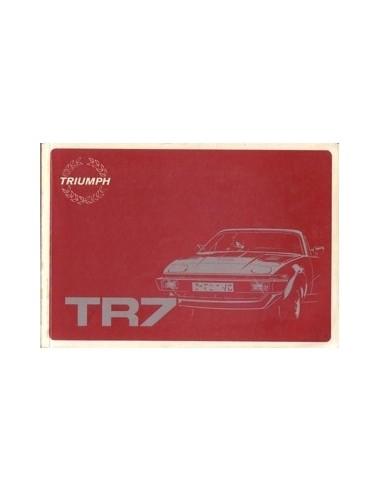 1981 TRIUMPH TR7 INSTRUCTIEBOEKJE ENGELS