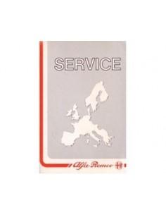 1989 ALFA ROMEO SERVICE INSTRUCTIEBOEKJE
