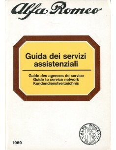 1969 ALFA ROMEO GUIDE TO SERVICE NETWORK
