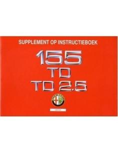 1993 ALFA ROMEO 155 TD & TD 2.5 INSTRUCTIEBOEKJE NEDERLANDS