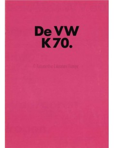 1972 VOLKSWAGEN K70 BROCHURE DUTCH