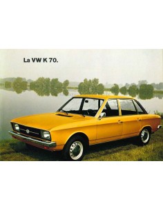 1970 VOLKSWAGEN K70 BROCHURE FRENCH