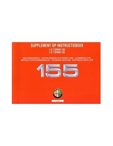 1996 ALFA ROMEO 155 1.6 & 1.8 TS 16V INSTRUCTIEBOEKJE NEDERLANDS