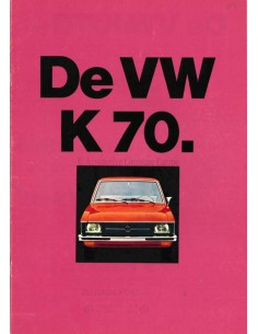 1971 VOLKSWAGEN K70 BROCHURE DUTCH