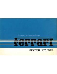 1964 FERRARI 275 GTS SPYDER BROCHURE