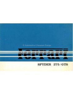 1964 FERRARI 275 GTS SPYDER PROSPEKT