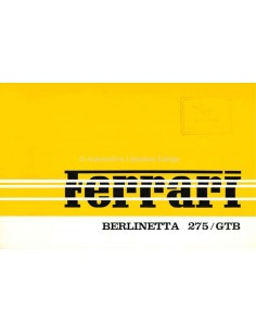 1964 FERRARI 275 GTB BERLINETTA BROCHURE