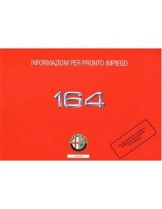 1993 ALFA ROMEO 164 INSTRUMENTEN INSTRUCTIEBOEKJE ITALIAANS
