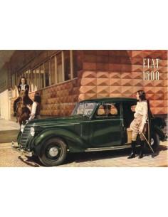 1939 FIAT 1500 BROCHURE NEDERLANDS