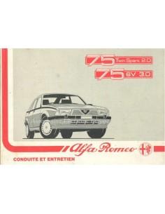 1988 ALFA ROMEO 75 BETRIEBSANLEITUNG FRANZÖSISCH