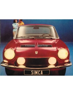 1968 SIMCA 1200 S COUPE BROCHURE DUTCH