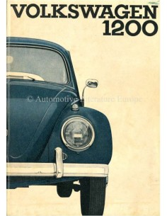 1962 VOLKSWAGEN BEETLE 1200 OWNERS MANUAL DUTCH