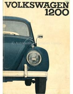 1962 VOLKSWAGEN KÄFER 1200 BETRIEBSANLEITUNG NIEDERLÄNDISCH