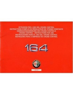 1993 ALFA ROMEO 164 CRUISE CONTROL BETRIEBSANLEITUNG