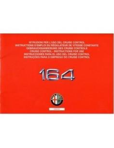 1993 ALFA ROMEO 164 CRUISE CONTROL OWNERS MANUAL HANDBOOK