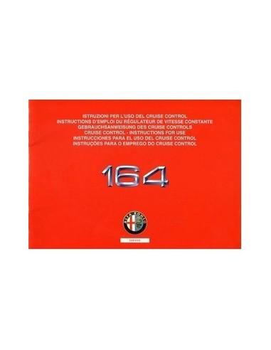 1993 ALFA ROMEO 164 CRUISE CONTROL INSTRUCTIEBOEKJE