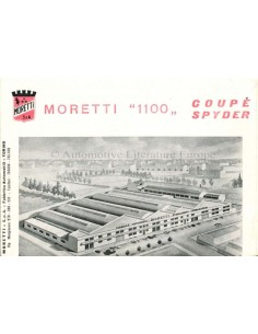 1962 MORETTI 1100 BROCHURE ITALIAANS