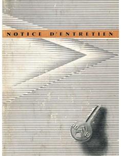 1957 CITROEN ID 19 BETRIEBSANLEITUNG FRANZÖSISCH