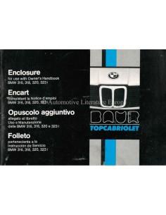 1979 BMW 3 SERIES BAUR TOPCABRIOLET BETRIEBSANLEITUNG