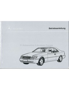 1995 MERCEDES BENZ S CLASS OWNERS MANUAL HANDBOOK GERMAN