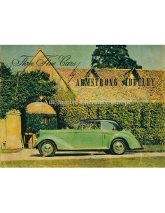 1946 ARMSTRONG SIDDELEY THREE FINE CARS PROSPEKT ENGLISCH