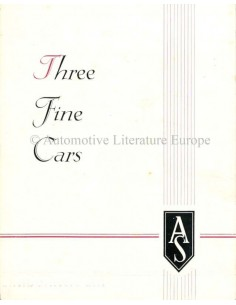 1946 ARMSTRONG SIDDELEY THREE FINE CARS BROCHURE NEDERLANDS