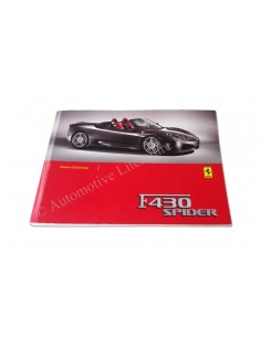 2005 FERRARI F430 SPIDER OWNER'S MANUAL FRENCH