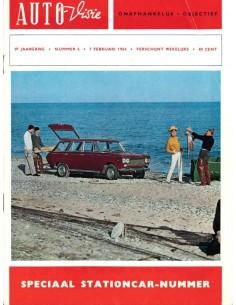 1964 AUTOVISIE MAGAZINE 6 NEDERLANDS