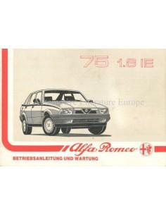 1988 ALFA ROMEO 75 1.8 IE OWNERS MANUAL GERMAN