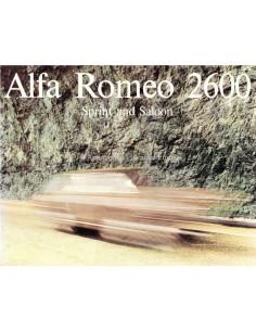 1965 ALFA ROMEO 2600 SPRINT & LIOUSINE PROSPEKT ENGLISCH