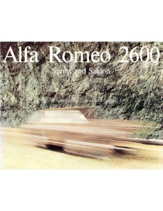 1965 ALFA ROMEO 2600 SPRINT & SALOON BROCHURE ENGLISH