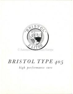 1954 BRISTOL 405 BROCHURE ENGELS