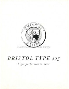 1954 BRISTOL 405 BROCHURE ENGLISH