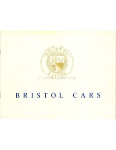 1955 BRISTOL 405 BROCHURE ENGLISH