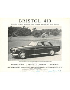 1967 BRISTOL 410 BROCHURE ENGLISH