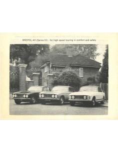 1974 BRISTOL 411 BROCHURE ENGLISH