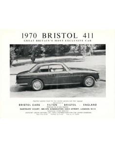 1970 BRISTOL 411 BROCHURE ENGLISH