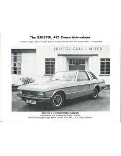 1976 BRISTOL 412 CONVERTIBLE-SALOON BROCHURE ENGLISH