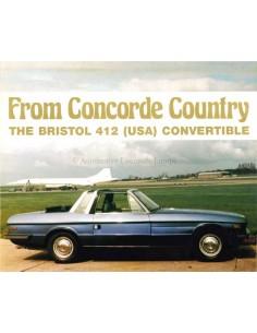 1978 BRISTOL 412 (USA) CONVERTIBLE BROCHURE ENGLISH