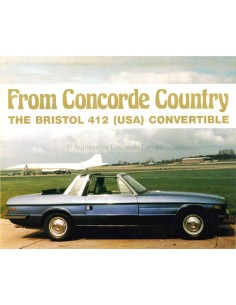 1978 BRISTOL 412 (USA) CONVERTIBLE PROSPEKT ENGLISCH