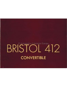 1975 BRISTOL 412 CONVERTIBLE BROCHURE ENGLISH