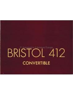 1975 BRISTOL 412 CONVERTIBLE PROSPEKT ENGLISCH