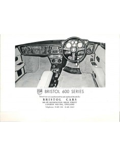 1977 BRISTOL 600 SERIES BROCHURE ENGLISH