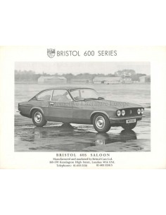 1977 BRISTOL 603 + 412 BROCHURE ENGLISH