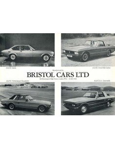 1987 BRISTOL 603 + 412 BROCHURE ENGLISH