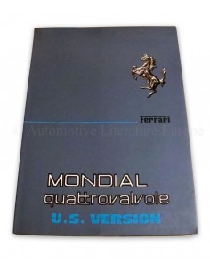 1984 FERRARI MONDIAL QUATTROVALVOLE OWNER'S MANUAL U.S. VERSION 308/84