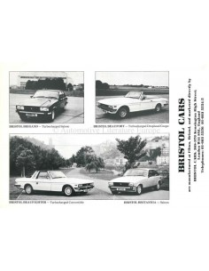 1987 BRISTOL RANGE BROCHURE ENGLISH