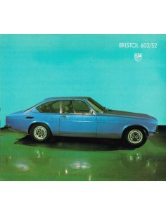 1978 BRISTOL 603/S2 BROCHURE ENGLISH