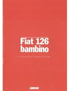 1982 FIAT 126 BAMBINO BROCHURE GERMAN