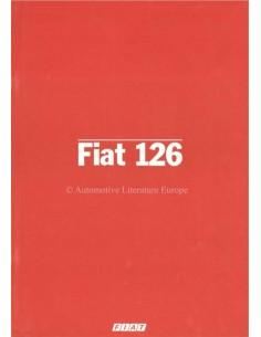 1982 FIAT 126 PROSPEKT ITALIENISCH